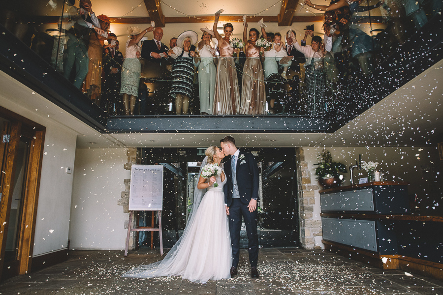 Confetti Shot From The Glamourous Country Wedding of Holli & Richard at The Priory Barn & Cottages in North Yorkshire, Captured by Lumiere Photographic