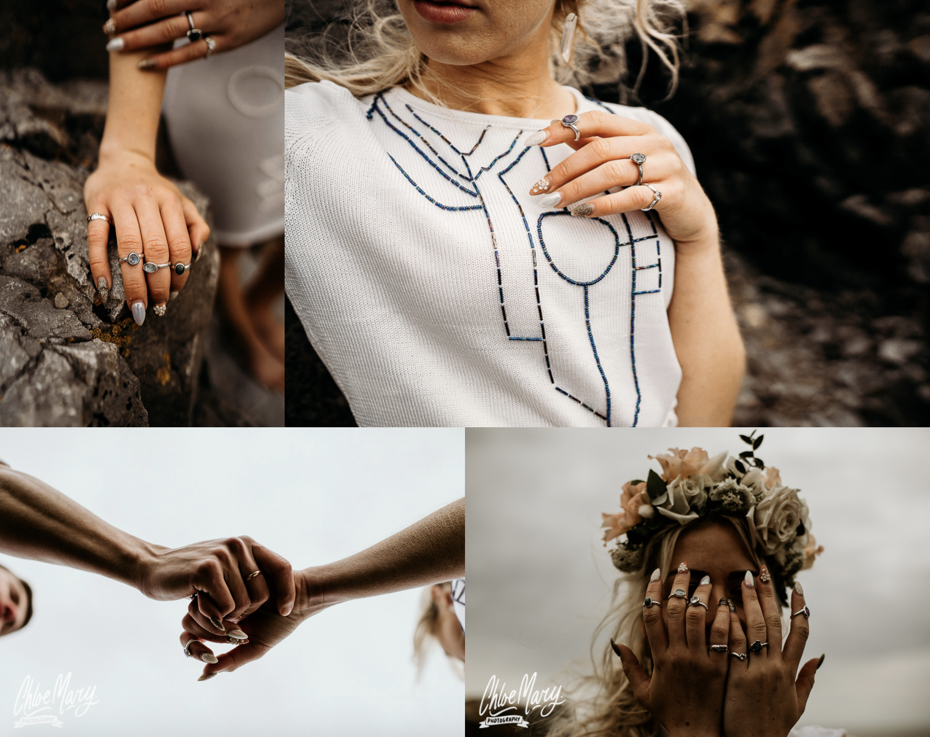 Ogmore Beach Elopement by Leesha Williams Photography and Chloe Mary Photography with Sam Ryde Jewellery