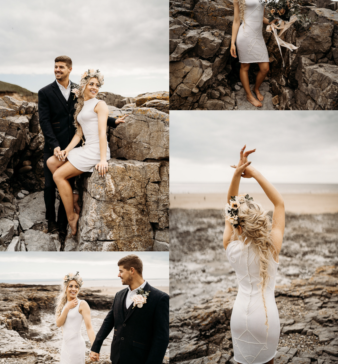 Leesha Williams Eco Beach Elopement with Coop Couture dress