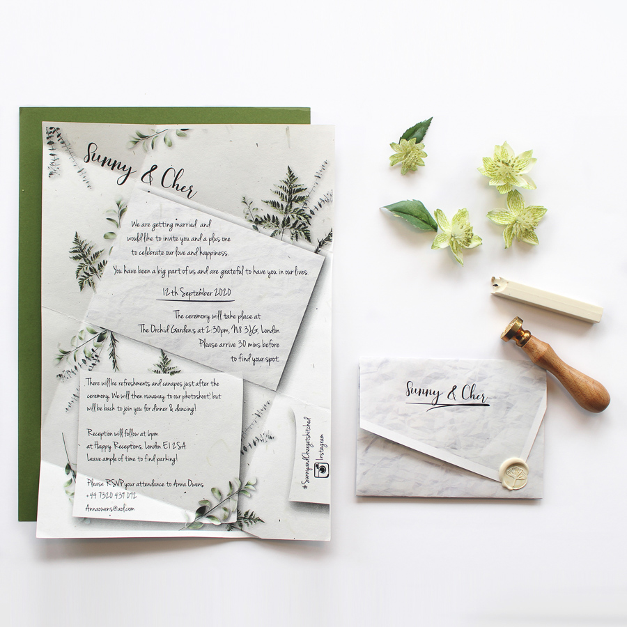 Eco Friendly Wildflower Wedding Invitations and Stationery by Luna & Sol