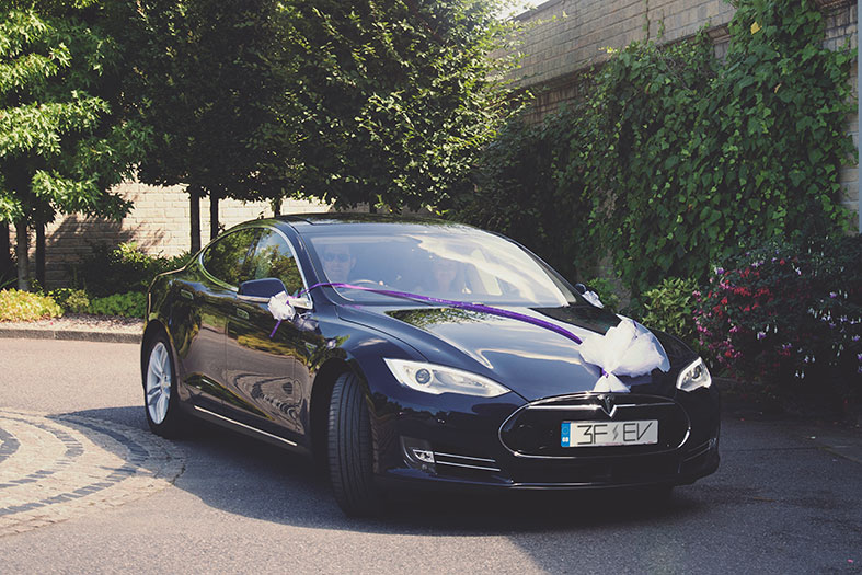 Hire a Teslas Model S from 3FEV for your wedding transport