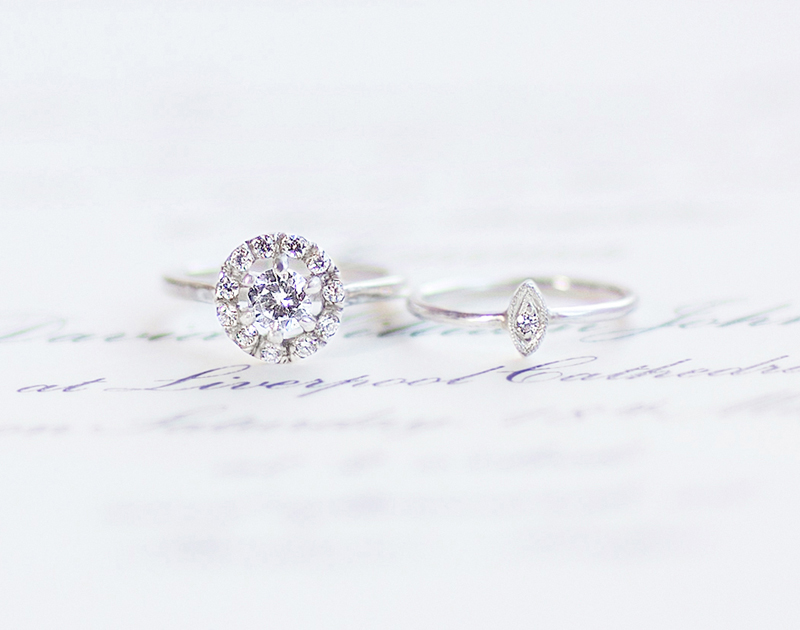 Audrey Claude hand forges elegant modern classic engagement and wedding rings