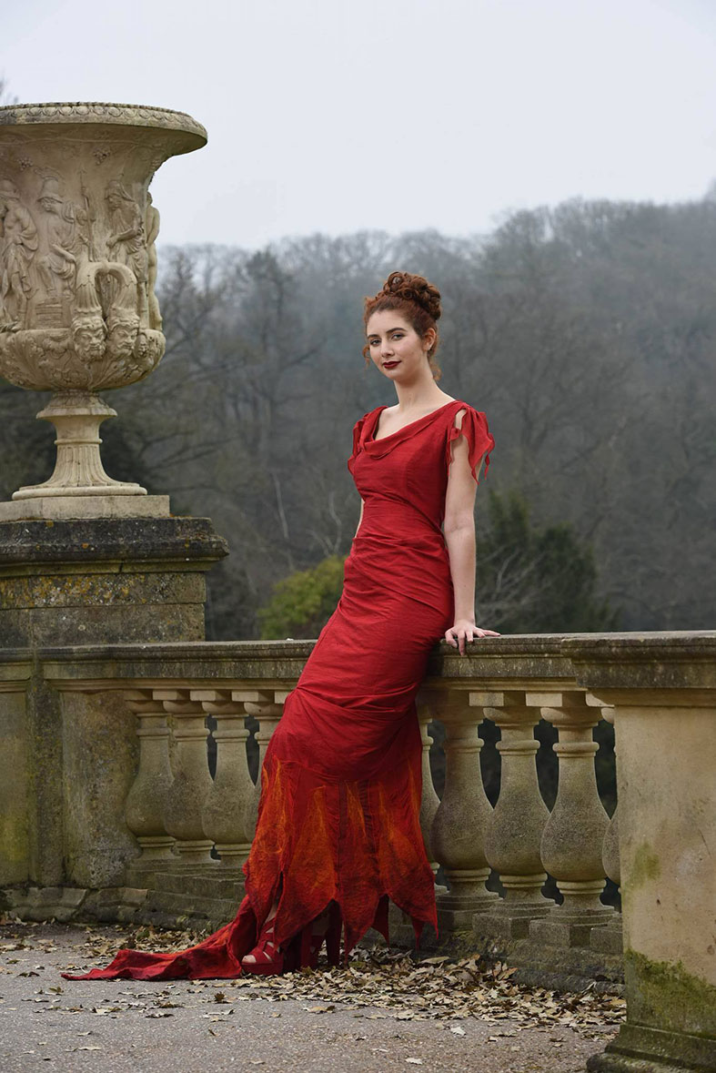 Or something like this amazing red eco friendly gown by Linda