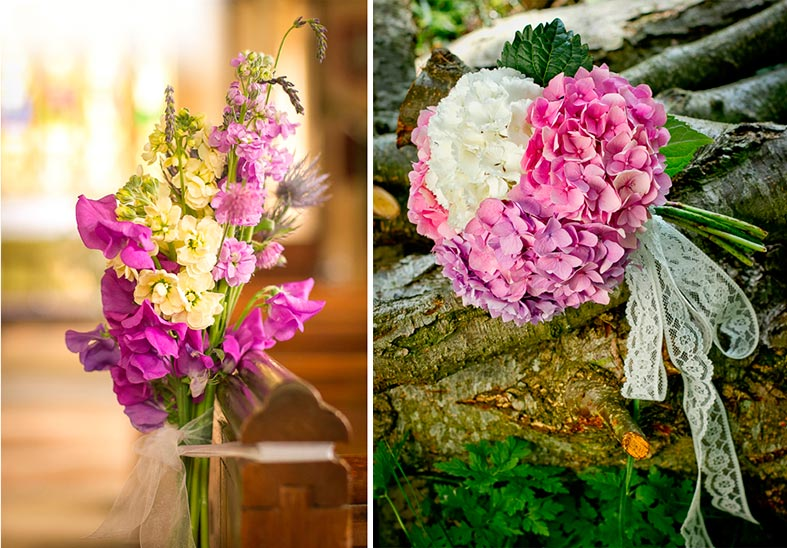 Natural wedding flowers by Mariposa Floristry