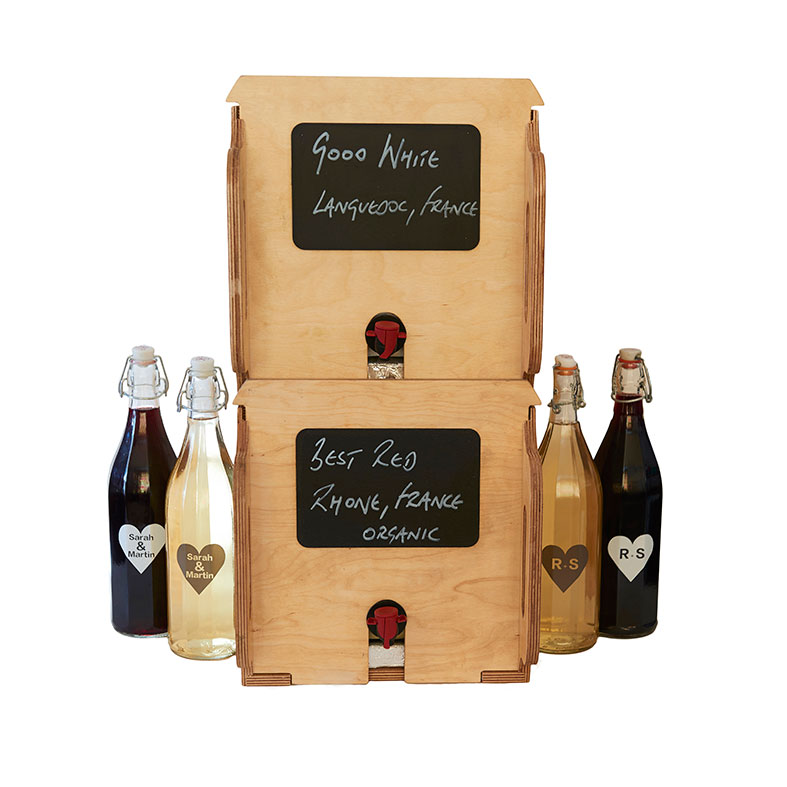 More Wine supply wine on tap, bag-in-box and resueable bottles for weddings