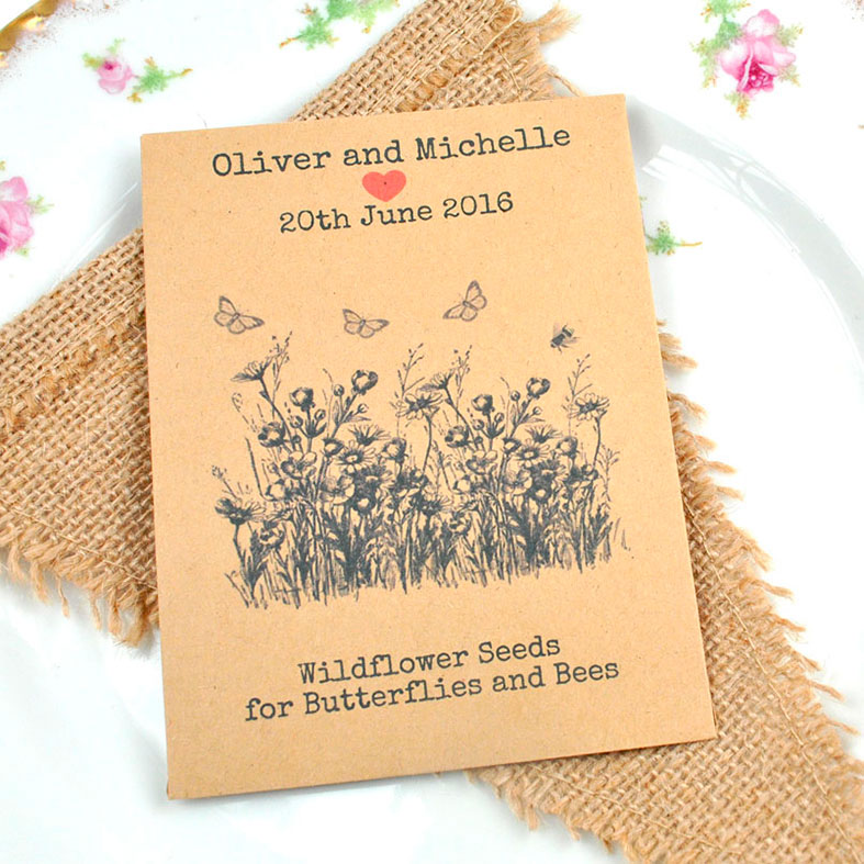 Wildflower Favours Natural British Wild Flower And Flower Seed