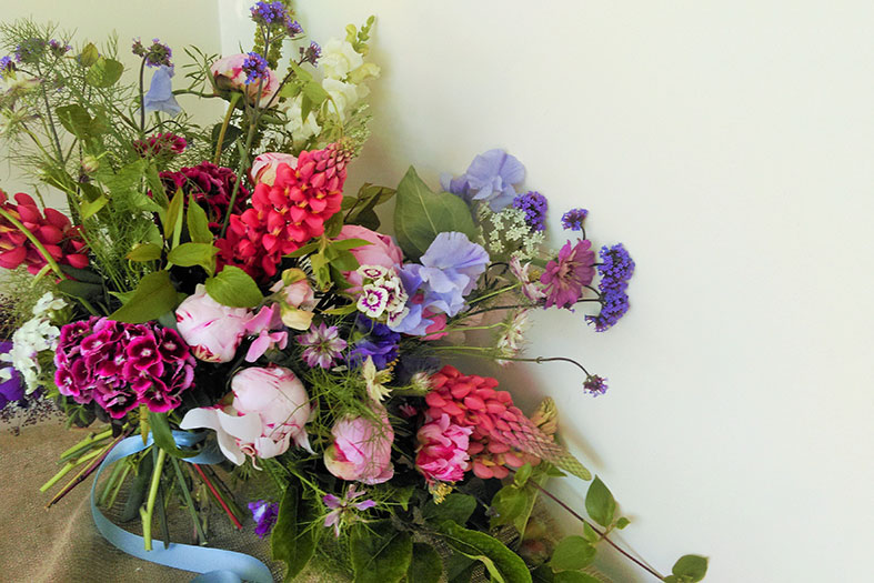 Natural seasonal British wedding flowers by Garden Gate Southwold