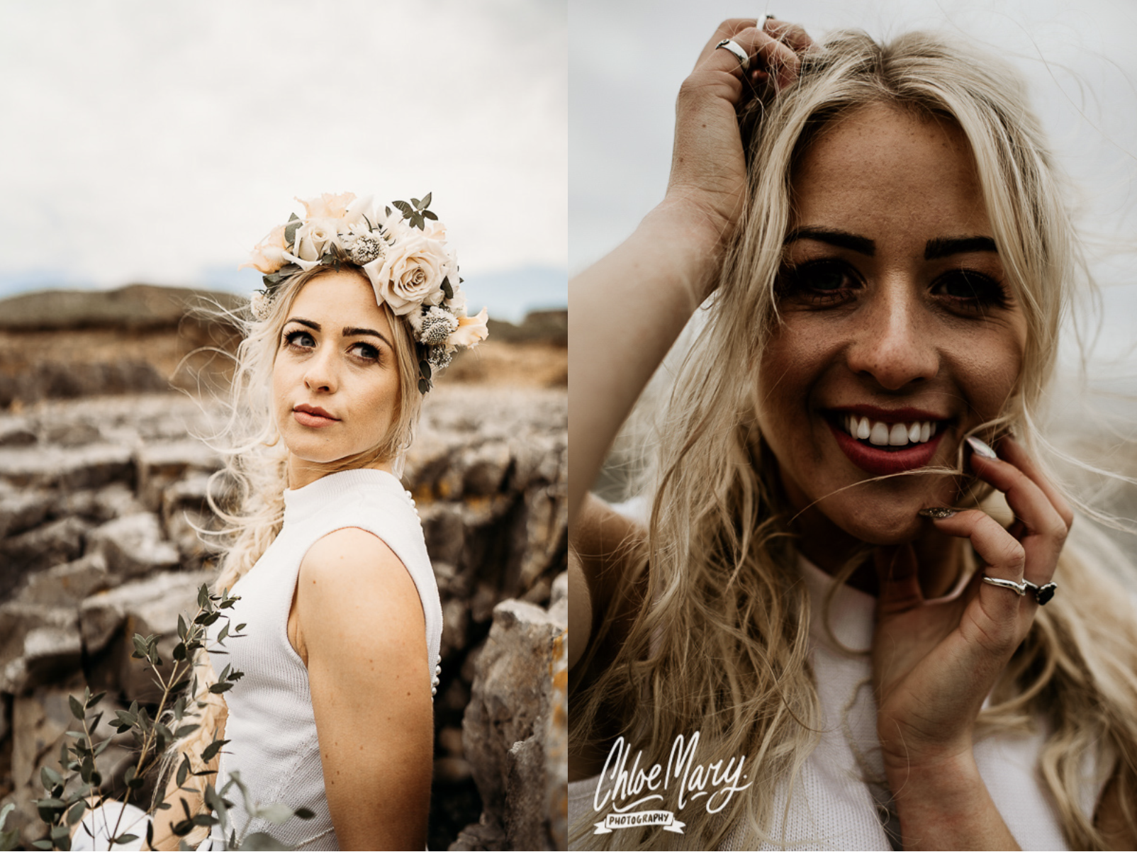 Ogmore Beach Elopement by Leesha Williams Photography and Chloe Mary Photography
