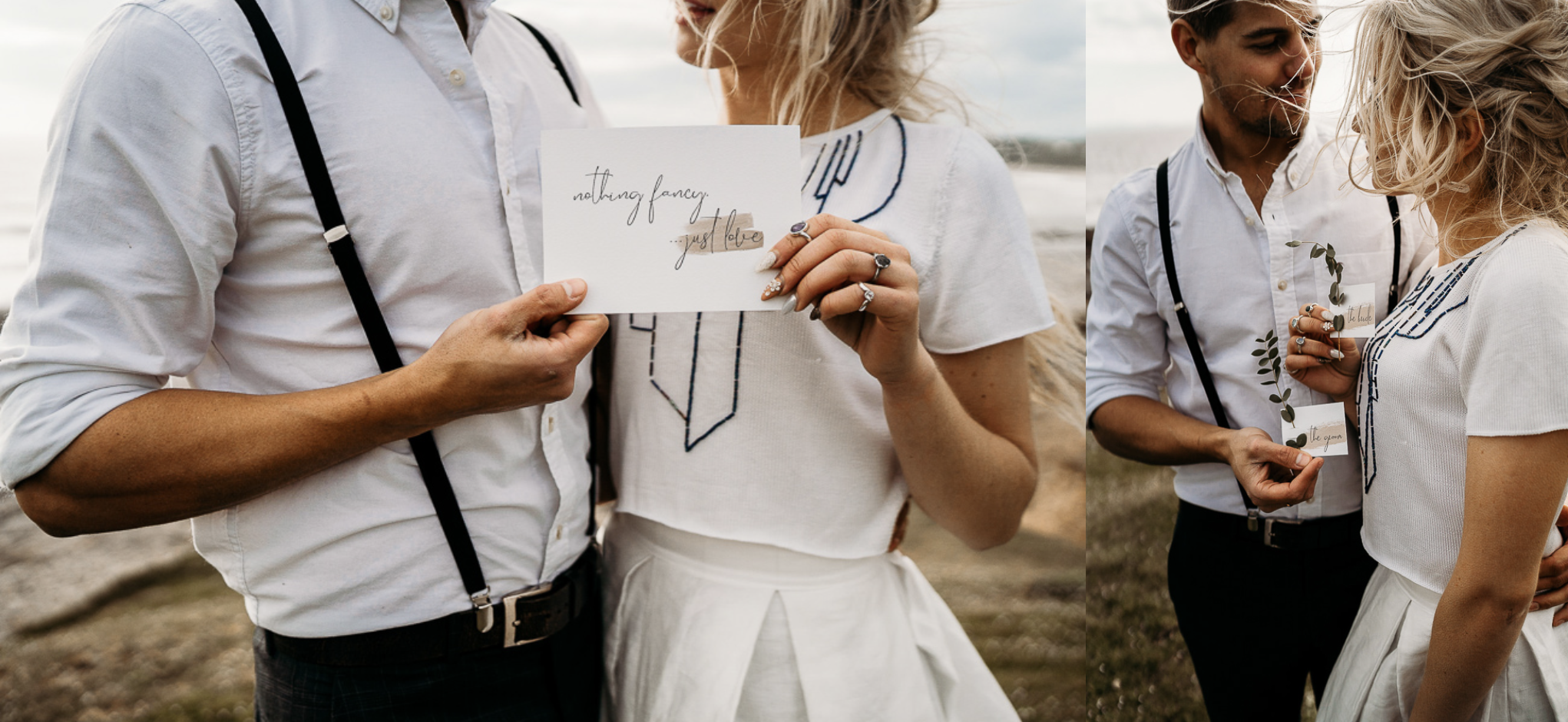 Leesha Williams Eco Beach Elopement with Hawthorne and Ivory Stationery
