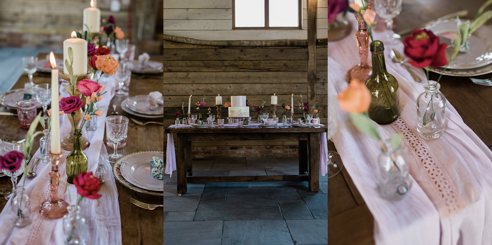 Eco Wedding Reception Table Styling