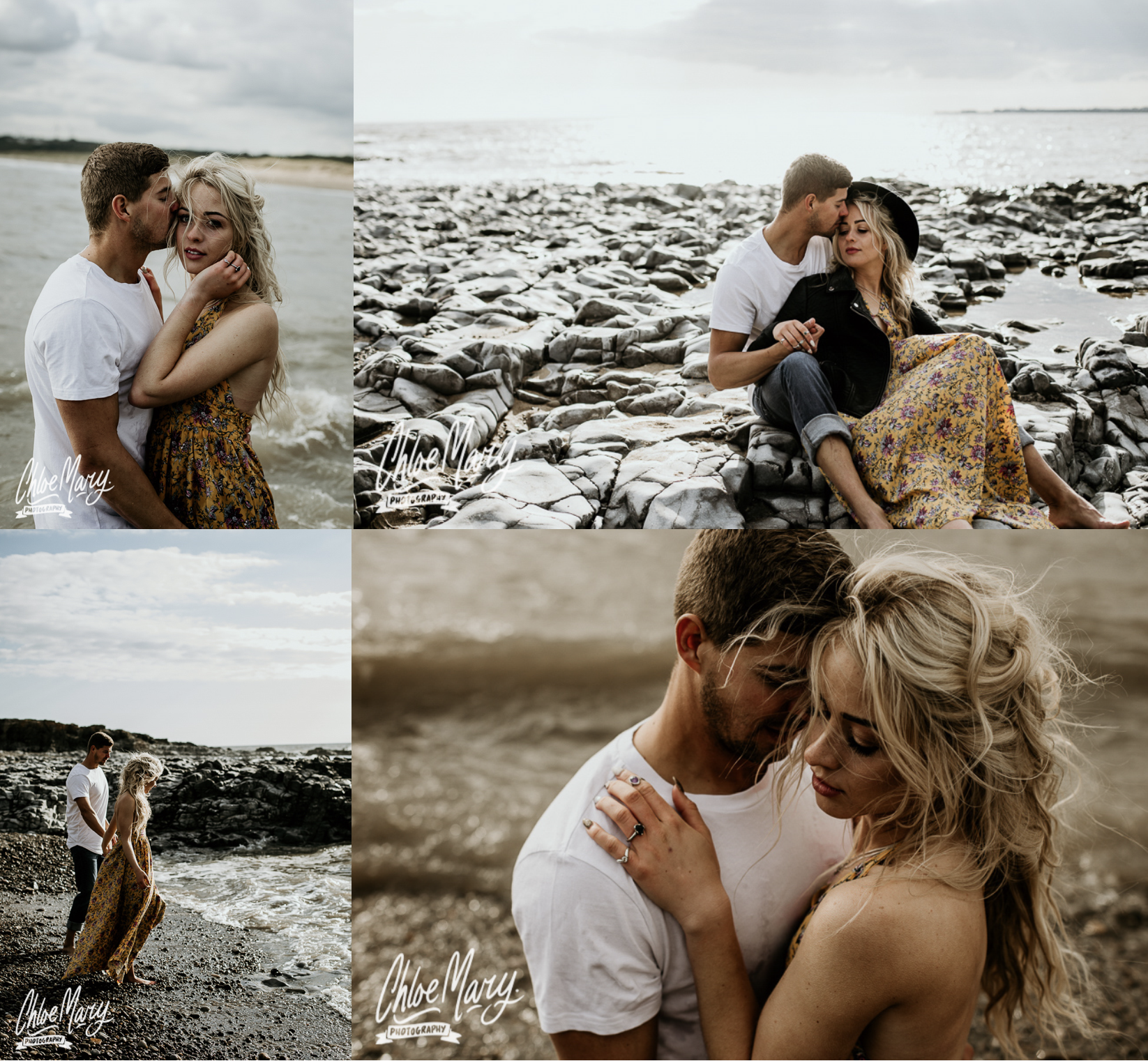 Chloe Mary Photography Eco Engagement at Ogmore Beach