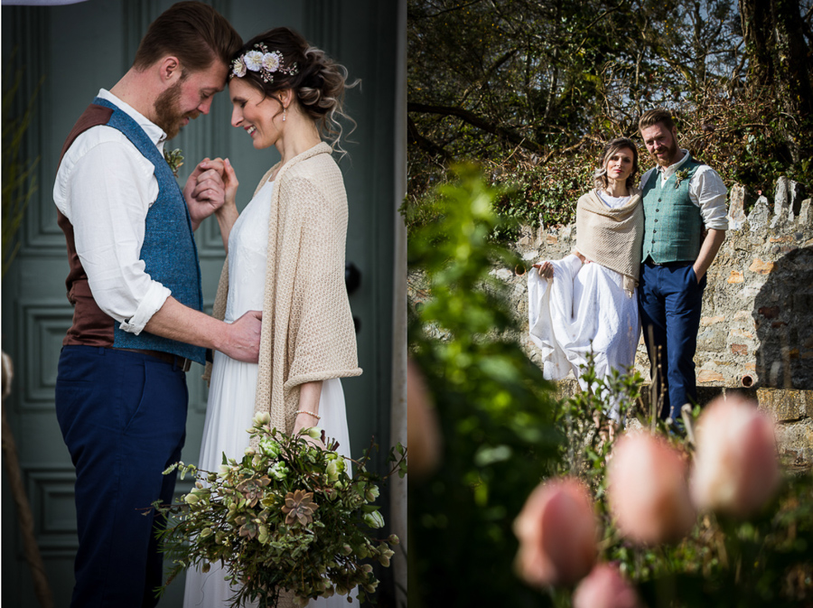 Eco friendly bridal accessories by Cadogan Cardigans at River Cottage
