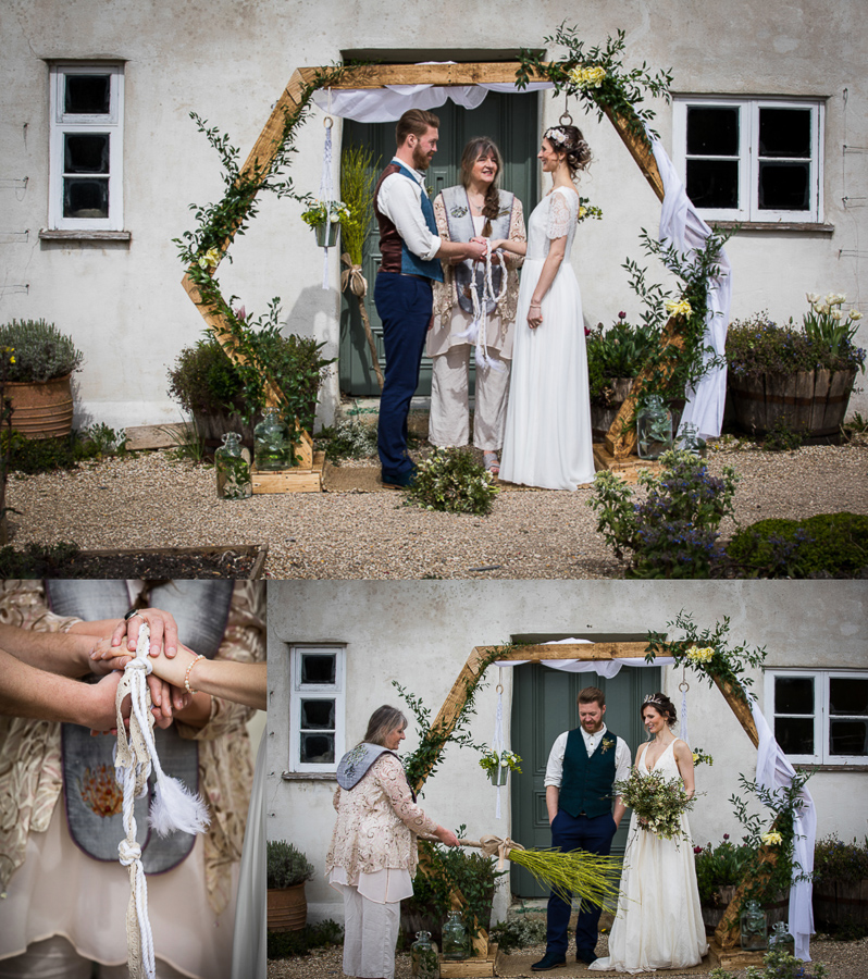 Eco friendly wedding ceremony at River Cottage