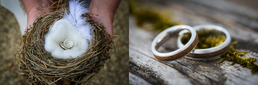 Eco friendly wedding bands by Green Union partner Eco Wood Rings
