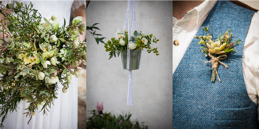Eco wedding flowers by Petal and Posie at River Cottage