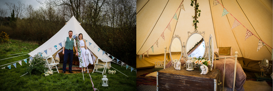 Bridal bell tent by Native at River Cottage