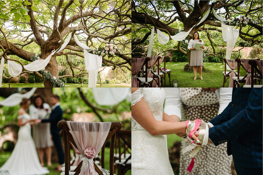 Wedding ceremony inspiration at The Little Dower House, captured by Alexis Jaworski