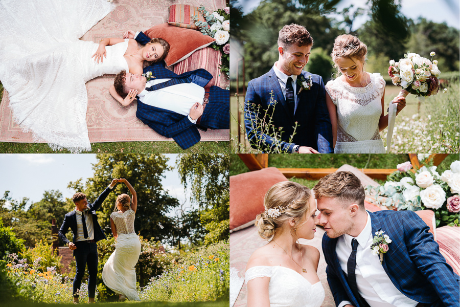 Bride and Groom portraits at The Little Dower House, captured by Alexis Jaworski