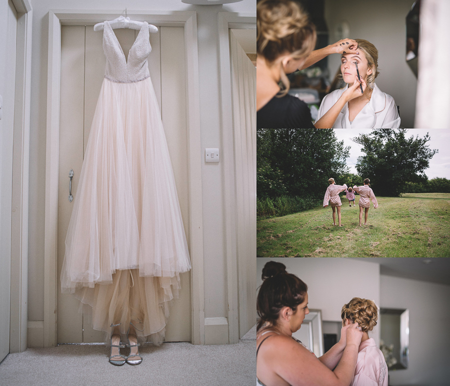 Bridal Preparations From The Glamourous Country Wedding of Holli & Richard at The Priory Barn & Cottages in North Yorkshire, Captured by Lumiere Photographic