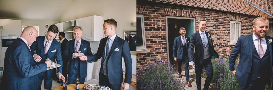Groom Preparations From The Glamourous Country Wedding of Holli & Richard at The Priory Barn & Cottages in North Yorkshire, Captured by Lumiere Photographic