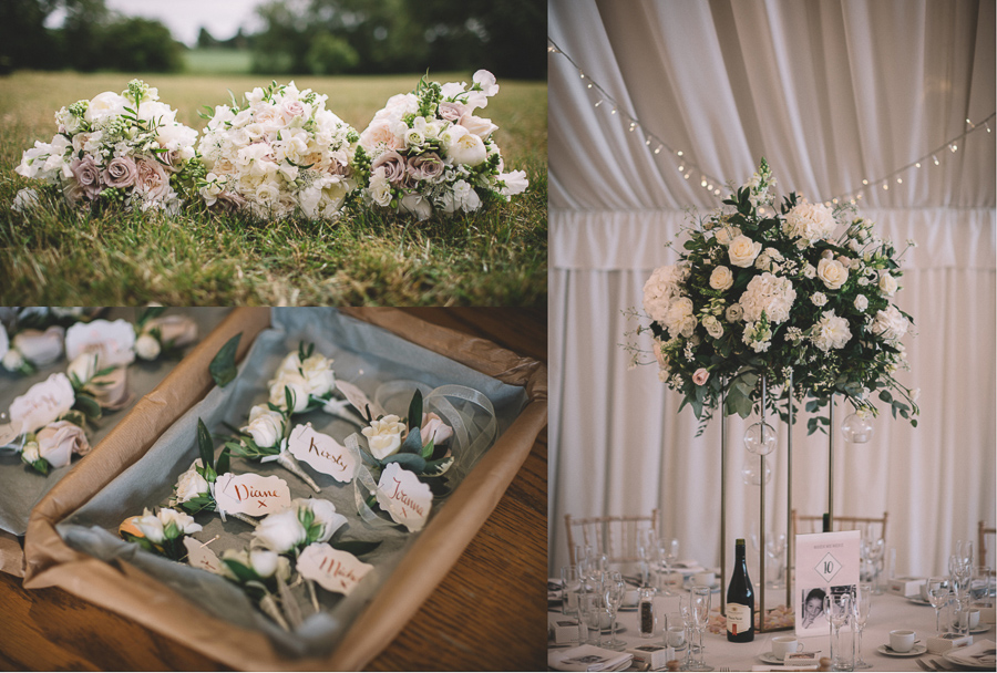 The Flowers From The Glamourous Country Wedding of Holli & Richard at The Priory Barn & Cottages in North Yorkshire, Captured by Lumiere Photographic