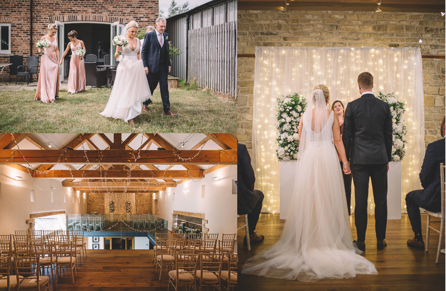 The Wedding Ceremony From The Glamourous Country Wedding of Holli & Richard at The Priory Barn & Cottages in North Yorkshire, Captured by Lumiere Photographic