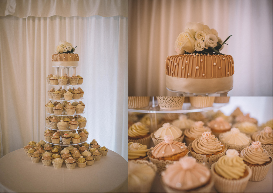 The Home Made Wedding Cake From The Glamourous Country Wedding of Holli & Richard at The Priory Barn & Cottages in North Yorkshire, Captured by Lumiere Photographic