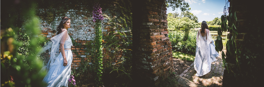 An Eco Friendly and Ethical Wedding at Bore Place, Kent, Captured by OneLove Pictures. Vegan-friendly Wedding Dresses.