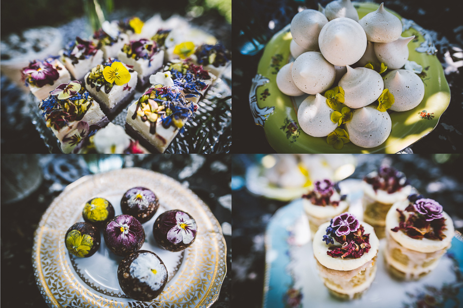 An Eco Friendly and Ethical Wedding at Bore Place, Kent, Captured by OneLove Pictures. Vegan desserts.