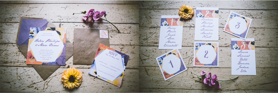 An Eco Friendly and Ethical Wedding at Bore Place, Kent, Captured by OneLove Pictures. Eco friendly recycled wedding stationery.
