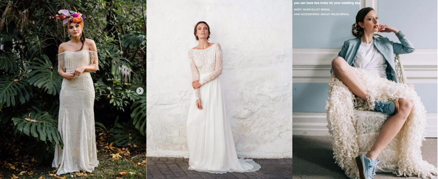 3 Top Tips for a More Sustainable Wedding by One Gin. Lost in Paris, Leila Hafzi and River Elliot Bridal Couture ethical wedding dresses