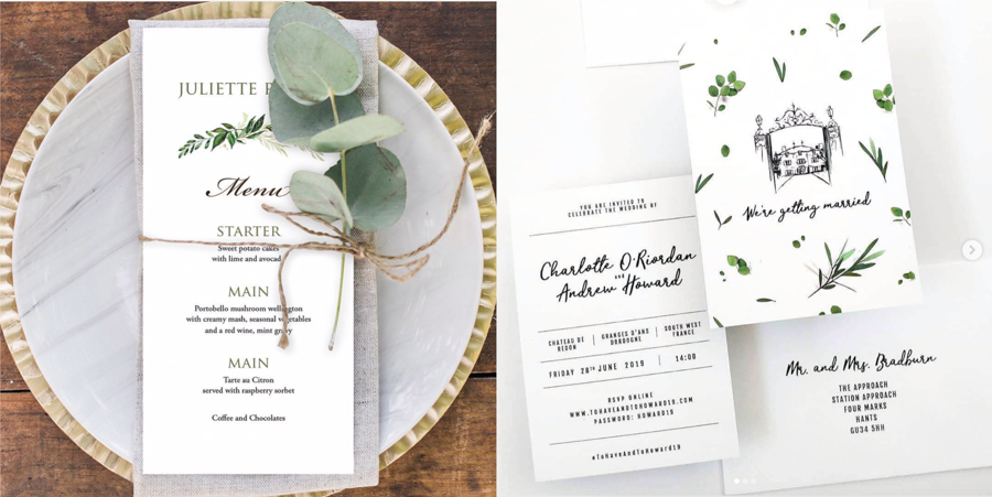 3 Top Tips for a More Sustainable Wedding by One Gin. Eco Friendly Stationery