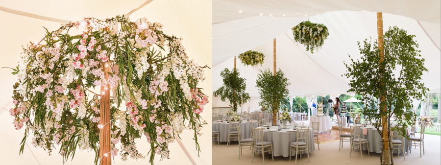 How to minimise the environmental impact of your wedding day - artificial and foraged flowers