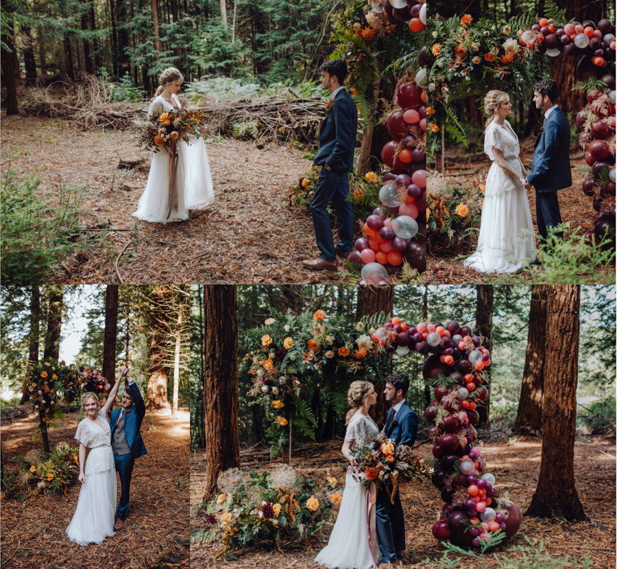 An Autumnal Rustic Luxe Woodland Marriage, Captured by Brigitte & Thierry Photography, with Balloons by The Glitzy Balloon Company