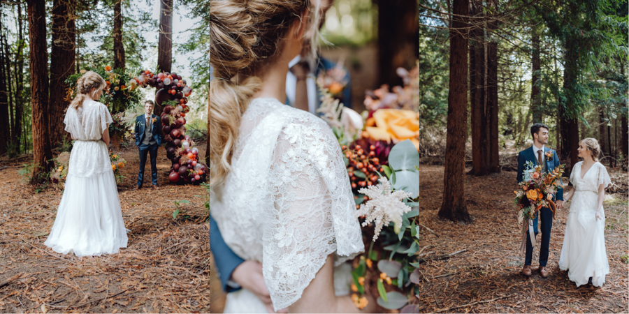 An Autumnal Rustic Luxe Woodland Marriage, Captured by Brigitte & Thierry Photography, with Modern Vintage Bridalwear by Lisa Lyons