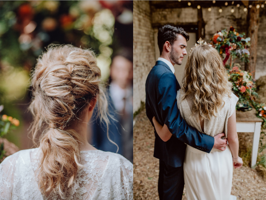 An Autumnal Rustic Luxe Woodland Marriage, Captured by Brigitte & Thierry Photography, with Hair by Natalie Danielle