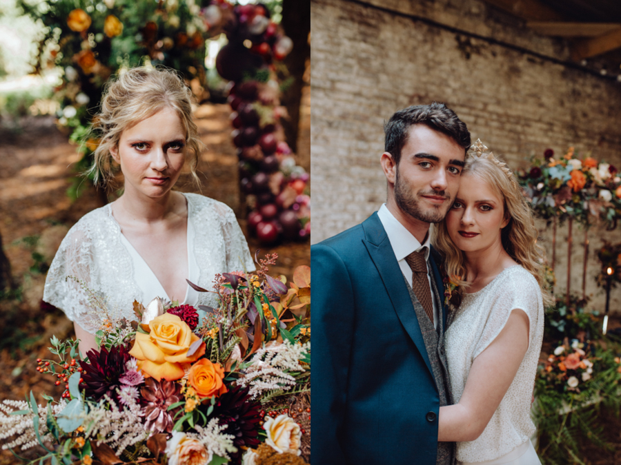 An Autumnal Rustic Luxe Woodland Marriage, Captured by Brigitte & Thierry Photography, with Make Up by Natalie Danielle