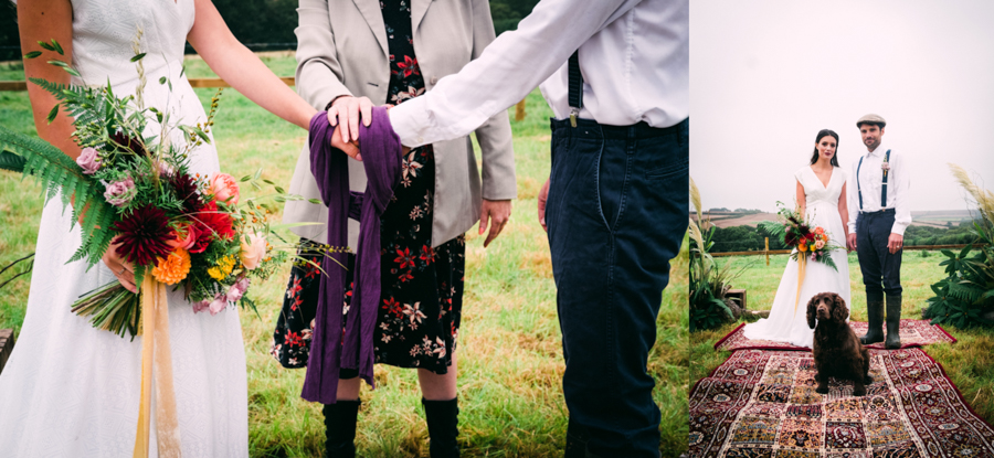 Eco Friendly Rural Farm Wedding Ideas from Cornwall, Captured by Verity Westcott Photography, with Cornish Celebrants