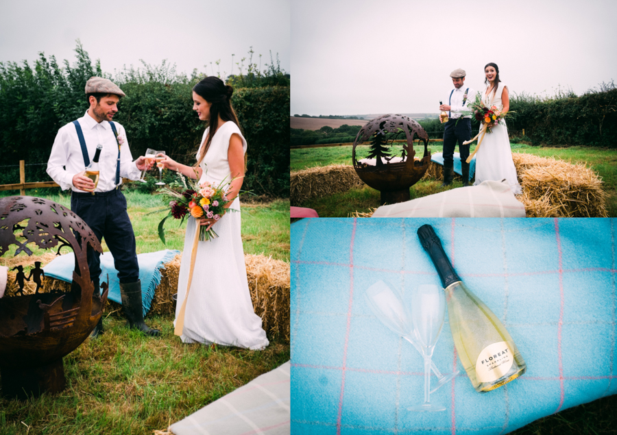 Eco Friendly Rural Farm Wedding Ideas from Cornwall, Captured by Verity Westcott Photography with Floreat