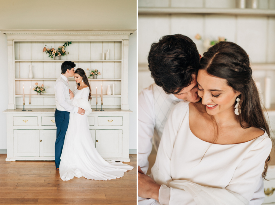INSPIRATION - A Winter's End Romance with a Bespoke Wedding Dress by Jessica Turner Designs, Captured at Casterley Barn by Rachel Jane Photography