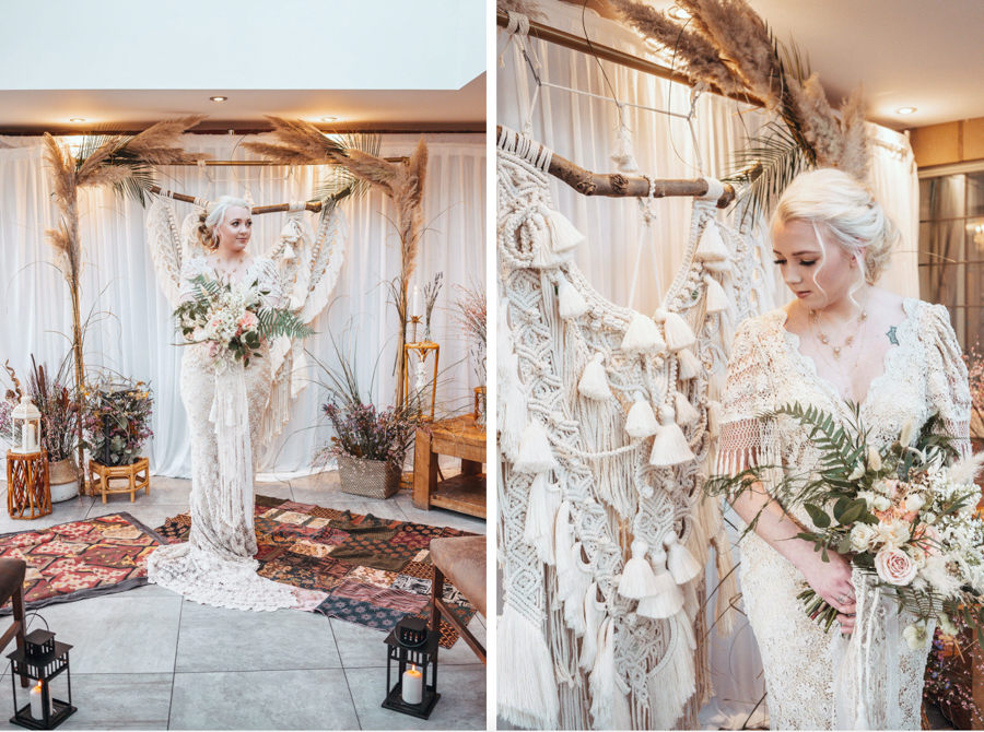 INSPIRATION - Eco-Friendly Bohemian Wedding Ideas at The White Horse Inn, Derbyshire, Captured by Tess Viera Photography - Poppy Perspective
