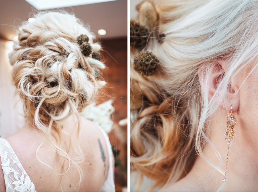 INSPIRATION - Eco-Friendly Bohemian Wedding Ideas at The White Horse Inn, Derbyshire, Captured by Tess Viera Photography - hair