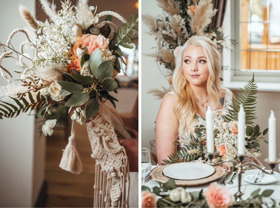INSPIRATION - Eco-Friendly Bohemian Wedding Ideas at The White Horse Inn, Derbyshire, Captured by Tess Viera Photography - flowers