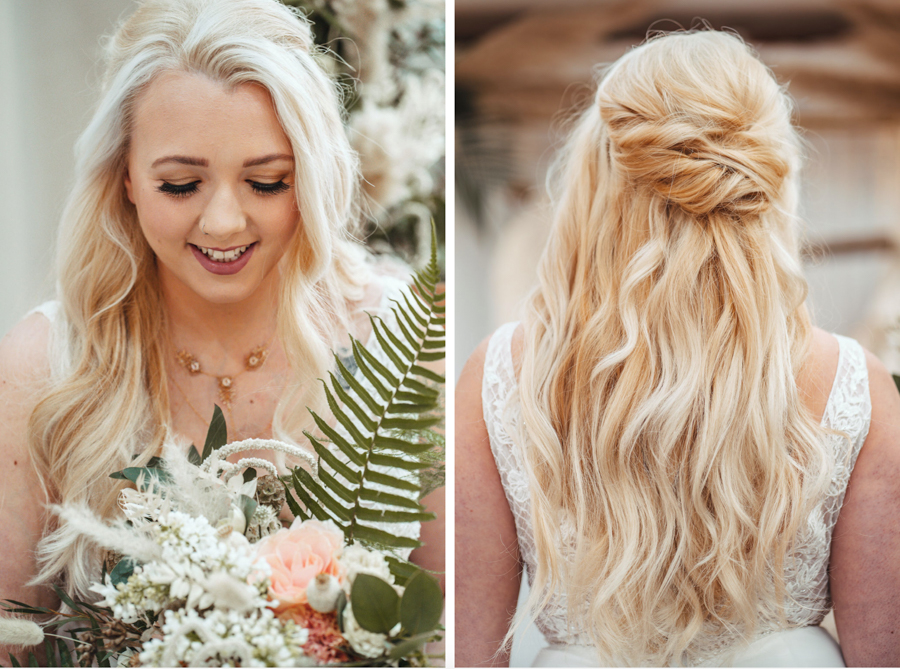 INSPIRATION - Eco-Friendly Bohemian Wedding Ideas at The White Horse Inn, Derbyshire, Captured by Tess Viera Photography - hair and makeup