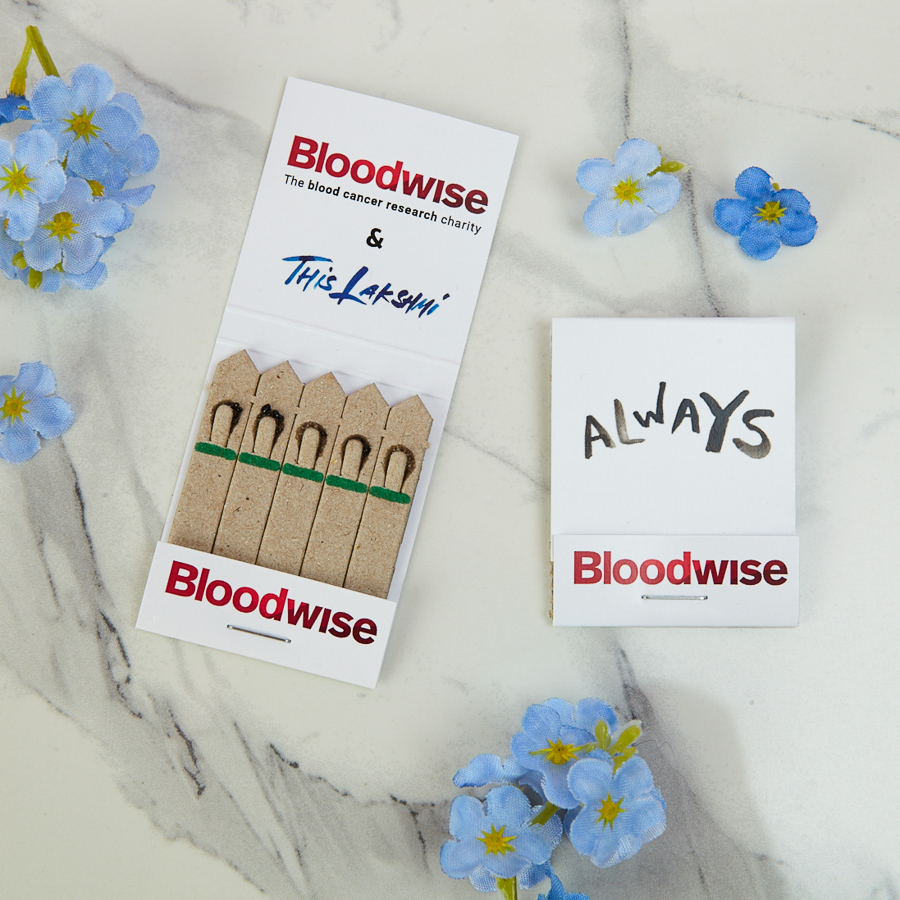 Wildflower Forget-Me-Not wedding favours for charity, Bloodwise, by This Lakshmi