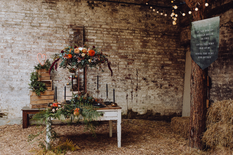 An Autumnal Rustic Luxe Woodland Marriage, Captured by Brigitte & Thierry Photography, with Banner by White Cottage Weddings