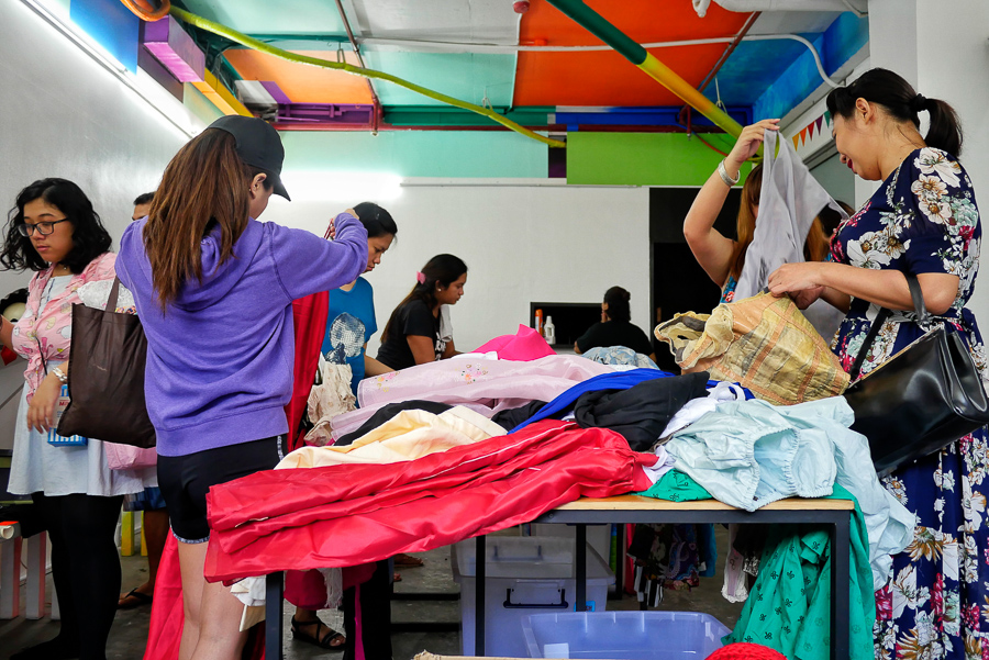 Reducing waste in the Fashion Industry by clothes swapping, by George Buid
