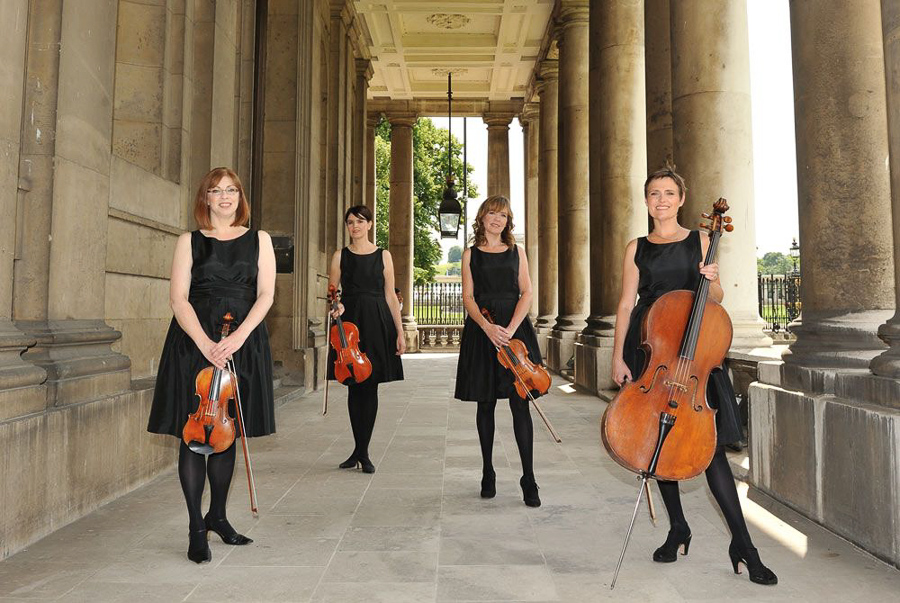 String Quartet from Green Union partner Bands for Hire