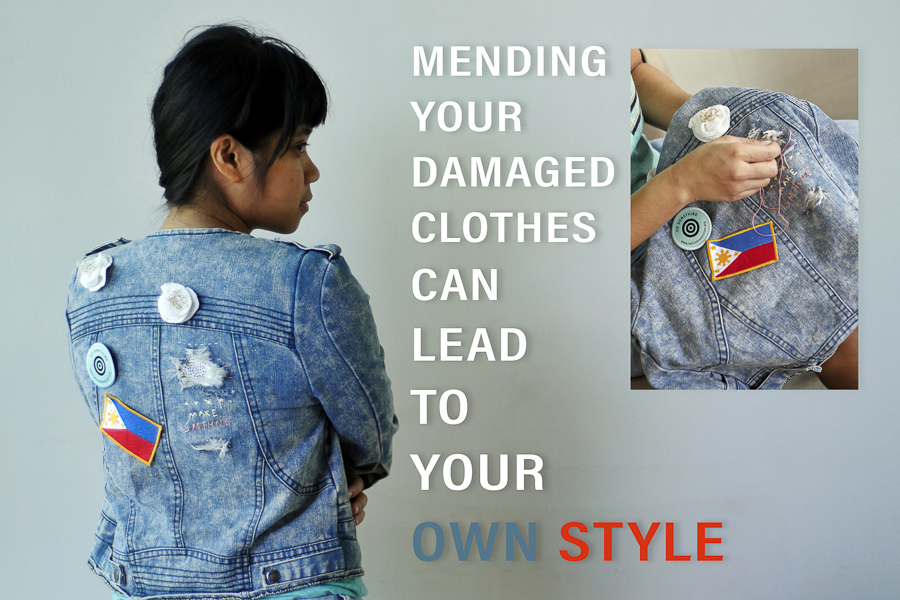 Reducing waste in the Fashion Industry by creatively repairing your clothes, by George Buid