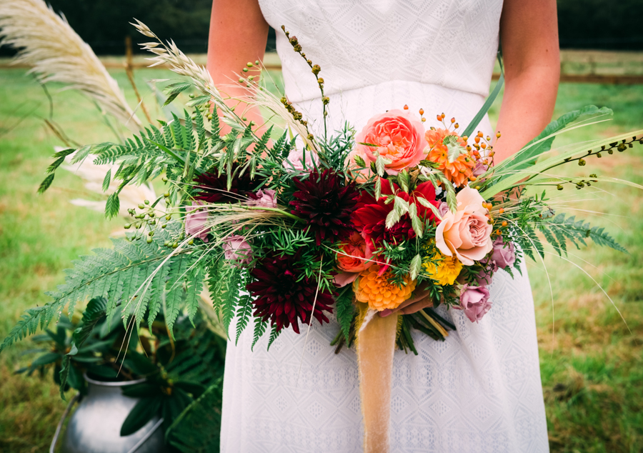 Eco Friendly Rural Farm Wedding Ideas from Cornwall, Captured by Verity Westcott Photography, with Tide Flowers